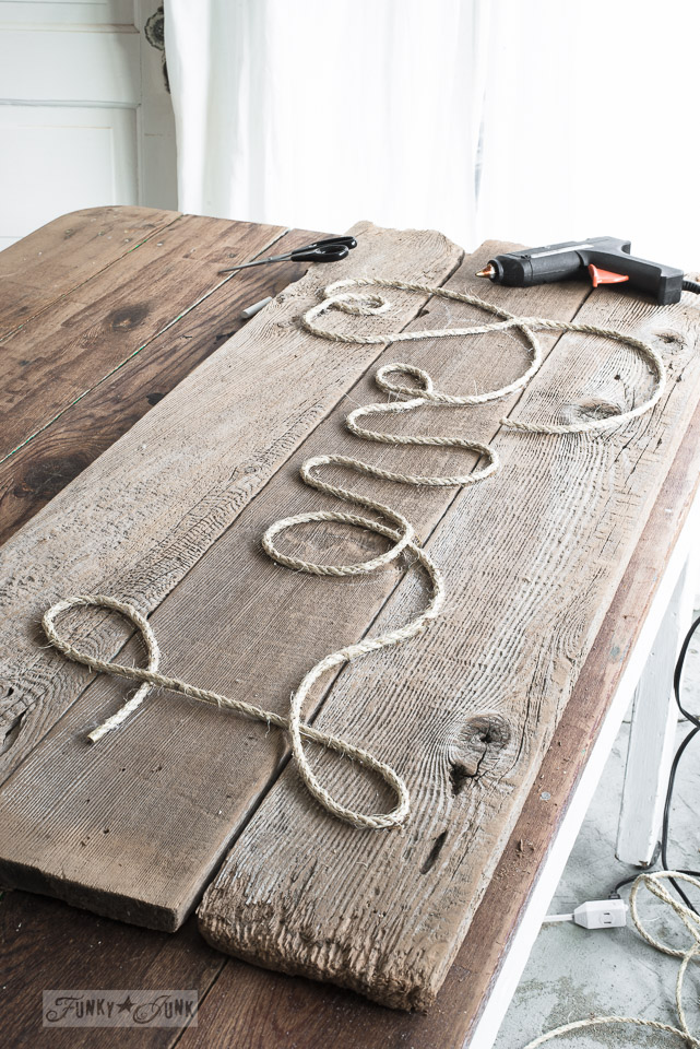 22 rustic rope and wood love sign