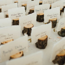 23 wood escort card holders