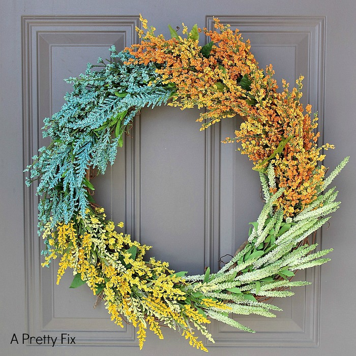 24 diy color blocked wreath