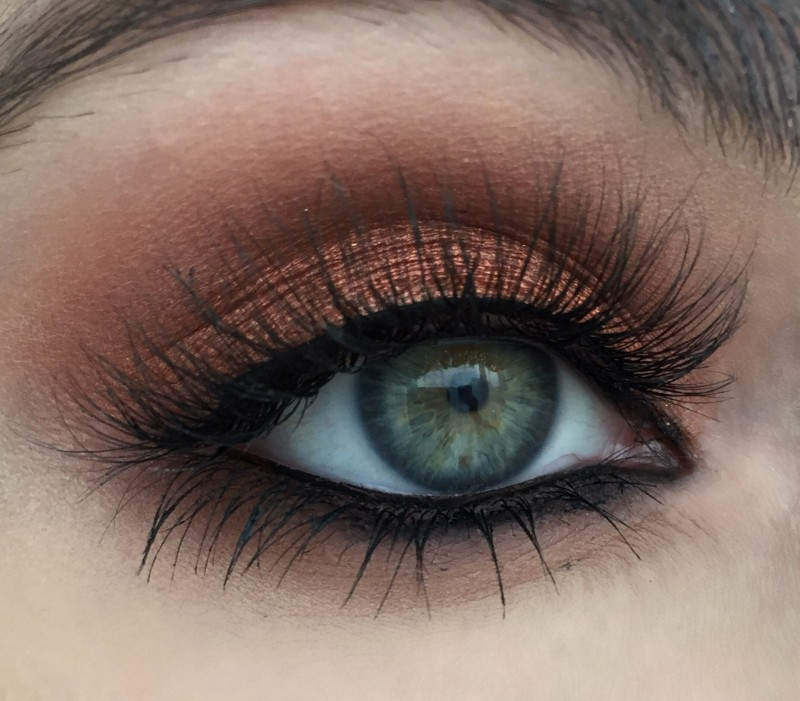 25 copper eyeshadow makeup