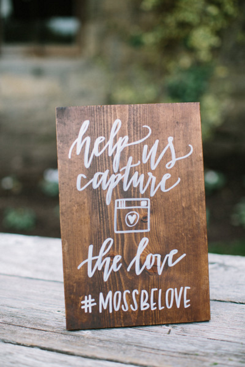 instagram hashtag sign rustic