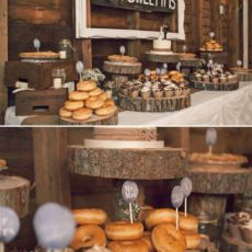 31 rustic wedding dessert bar
