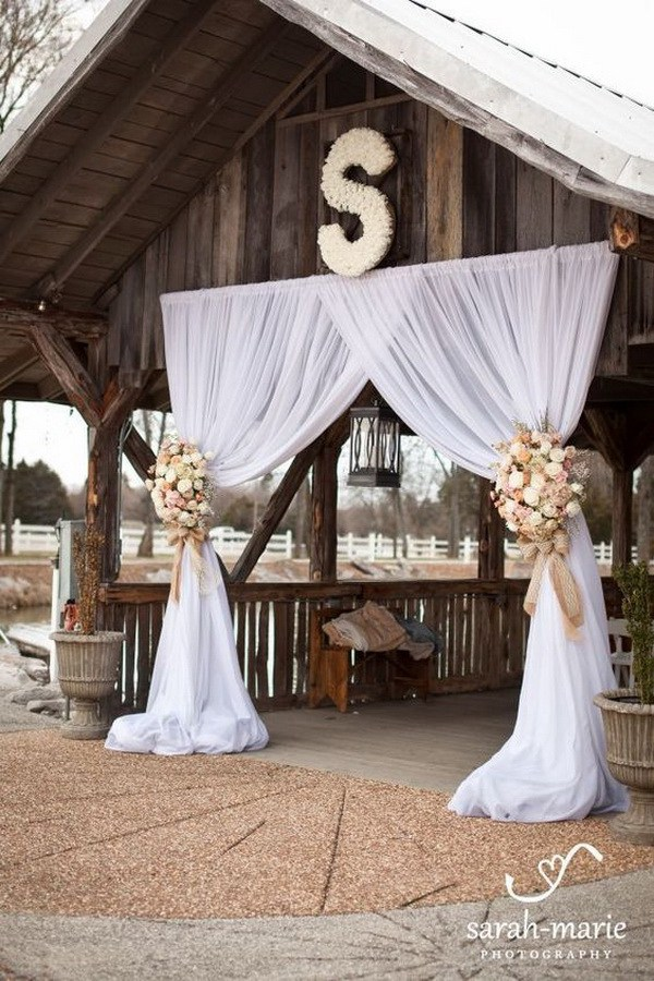 32 rustic wedding arch
