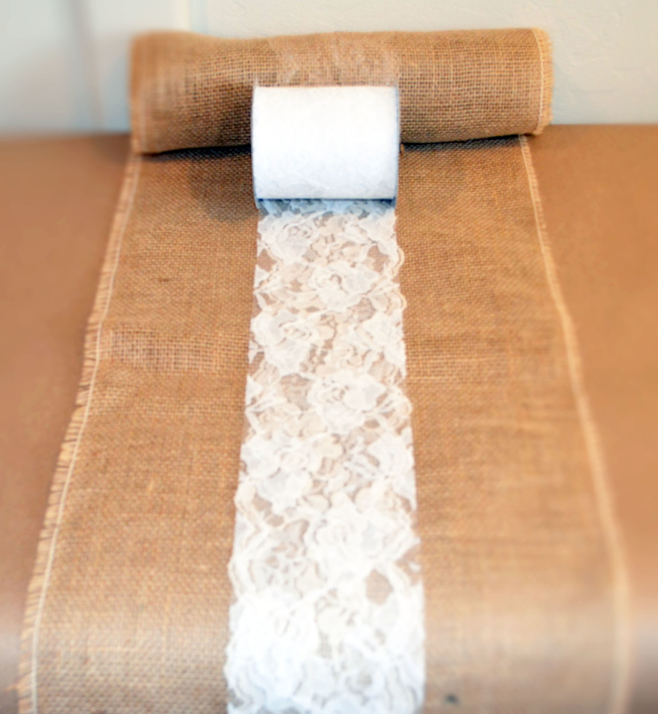 39 burlap lace table runner