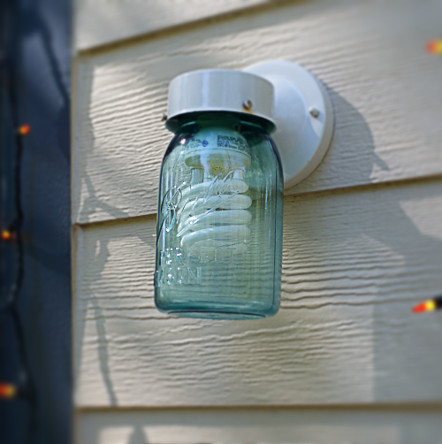 4 diy mason jar porch light