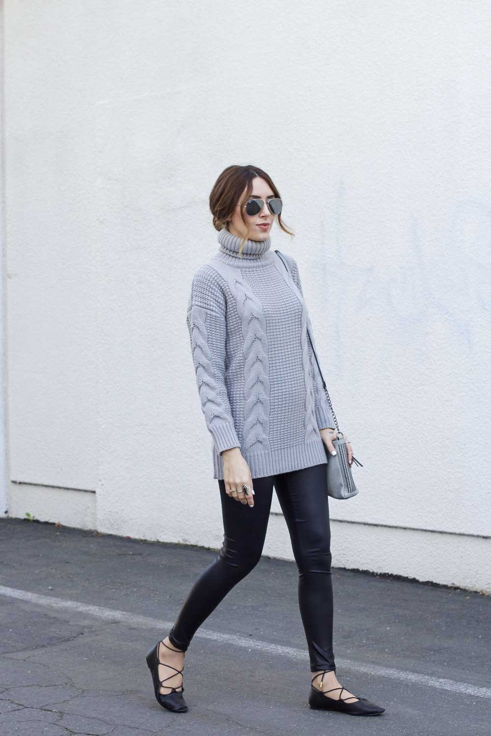 4 leggings long sweater