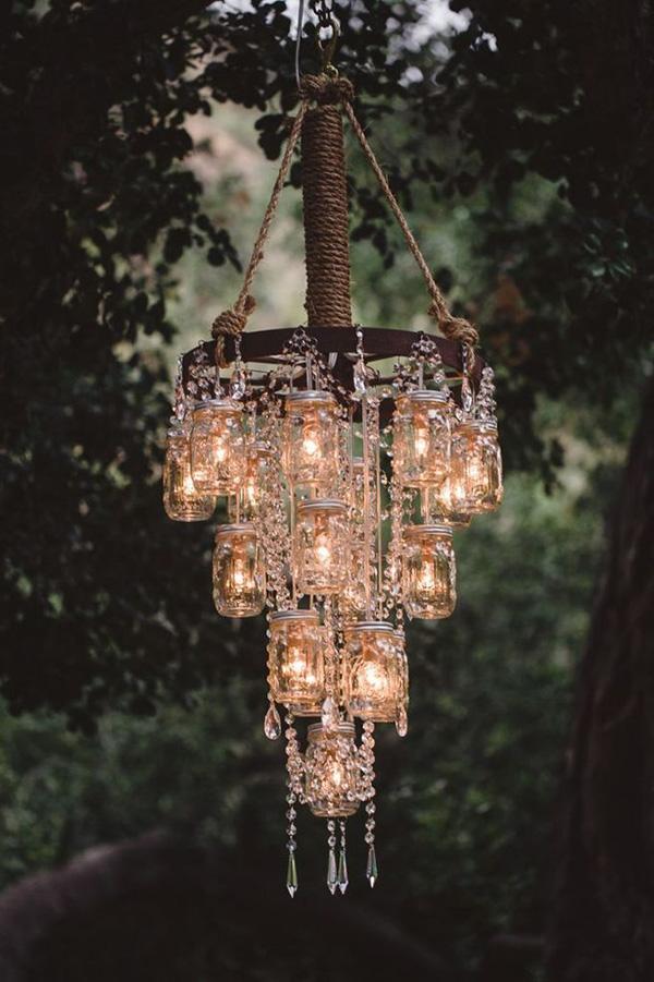 45 mason jar chandelier