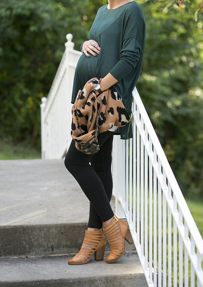 8 leopard leggings maternity