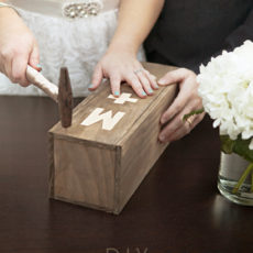 9 something turquoise diy wedding ceremony wine box