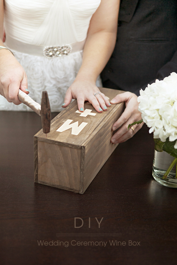 something turquoise diy wedding ceremony wine box