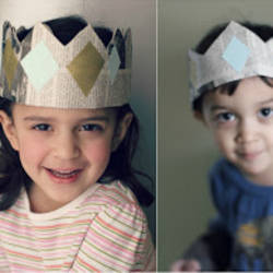 Adorable newspaper crowns
