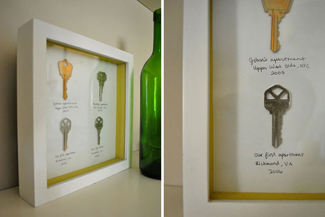 Apartment Key Shadow Box