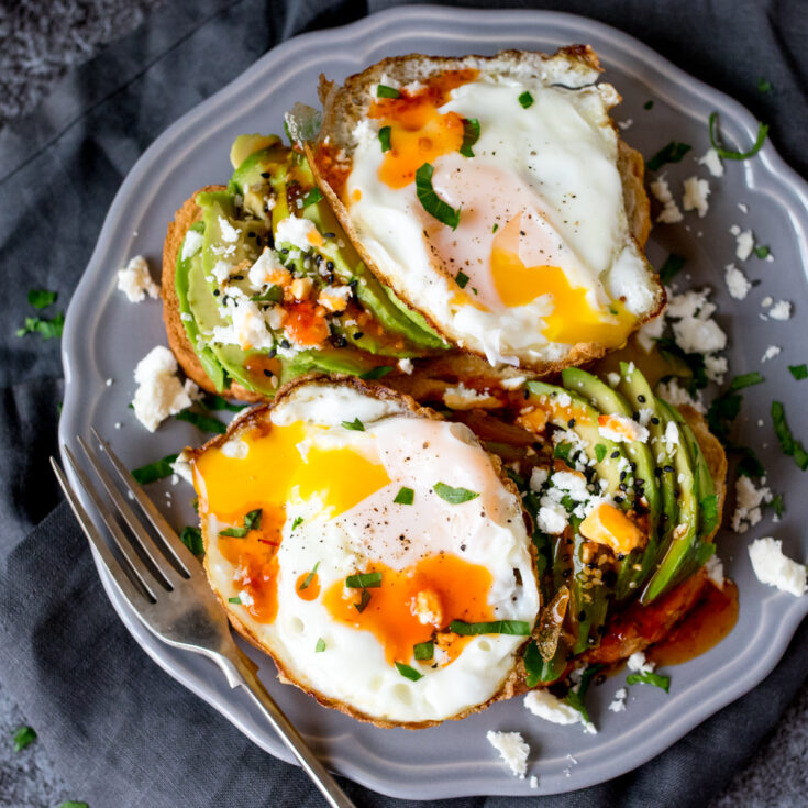 So full of goodness, these avocado breakfast toasts will give you lots of energy for the day!