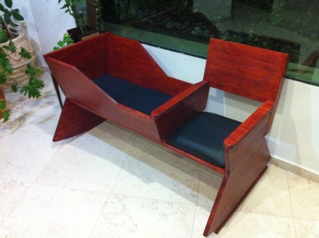 Baby cradle and side rocking chair