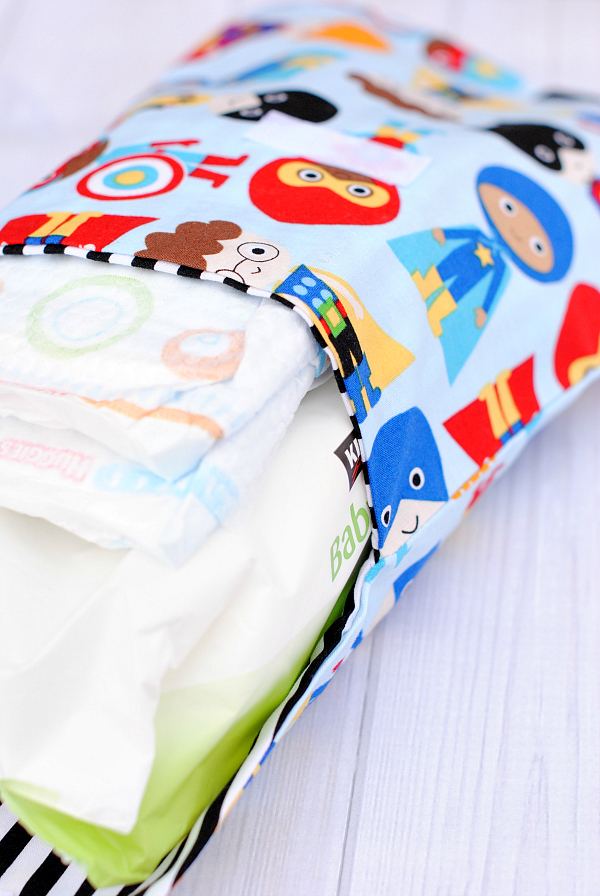 Baby diapers and wipes case