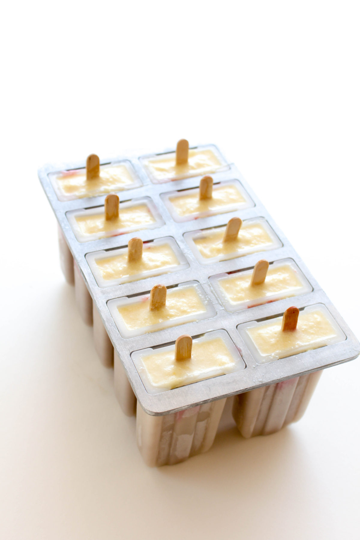 Banana split popsicles fridge