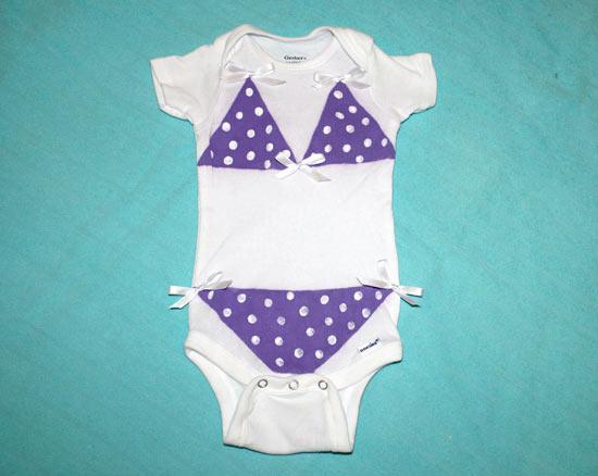Bikini baby onesie