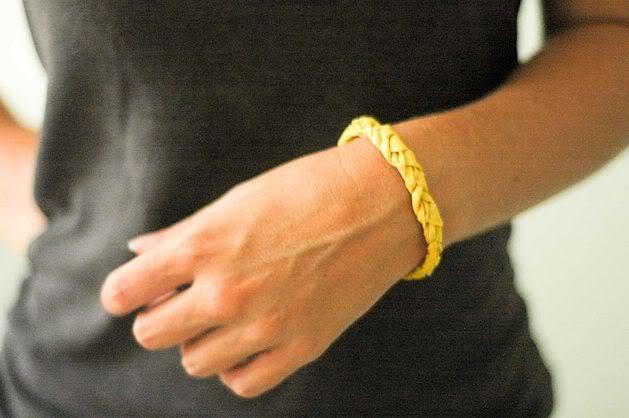 Braided duct tape bracelets