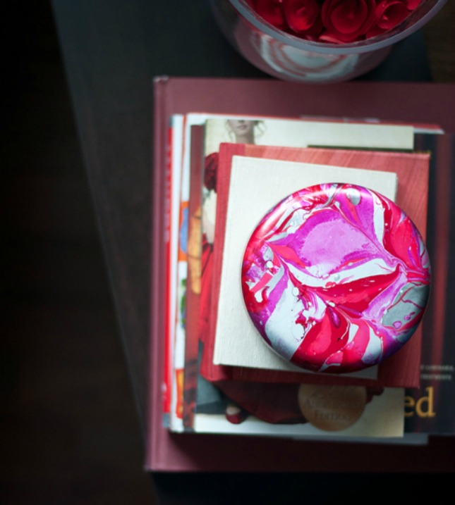 Bright marble paperweight