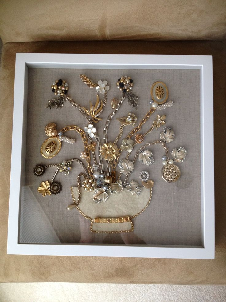 Brooch Mural Shadow Box