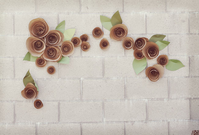 Butcher paper flowers