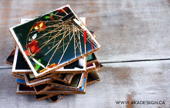 Cork picture coasters
