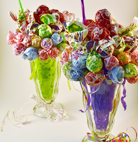 Candy malt milkshake bouquet