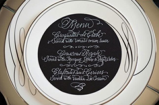 Chalboard paint plates menu