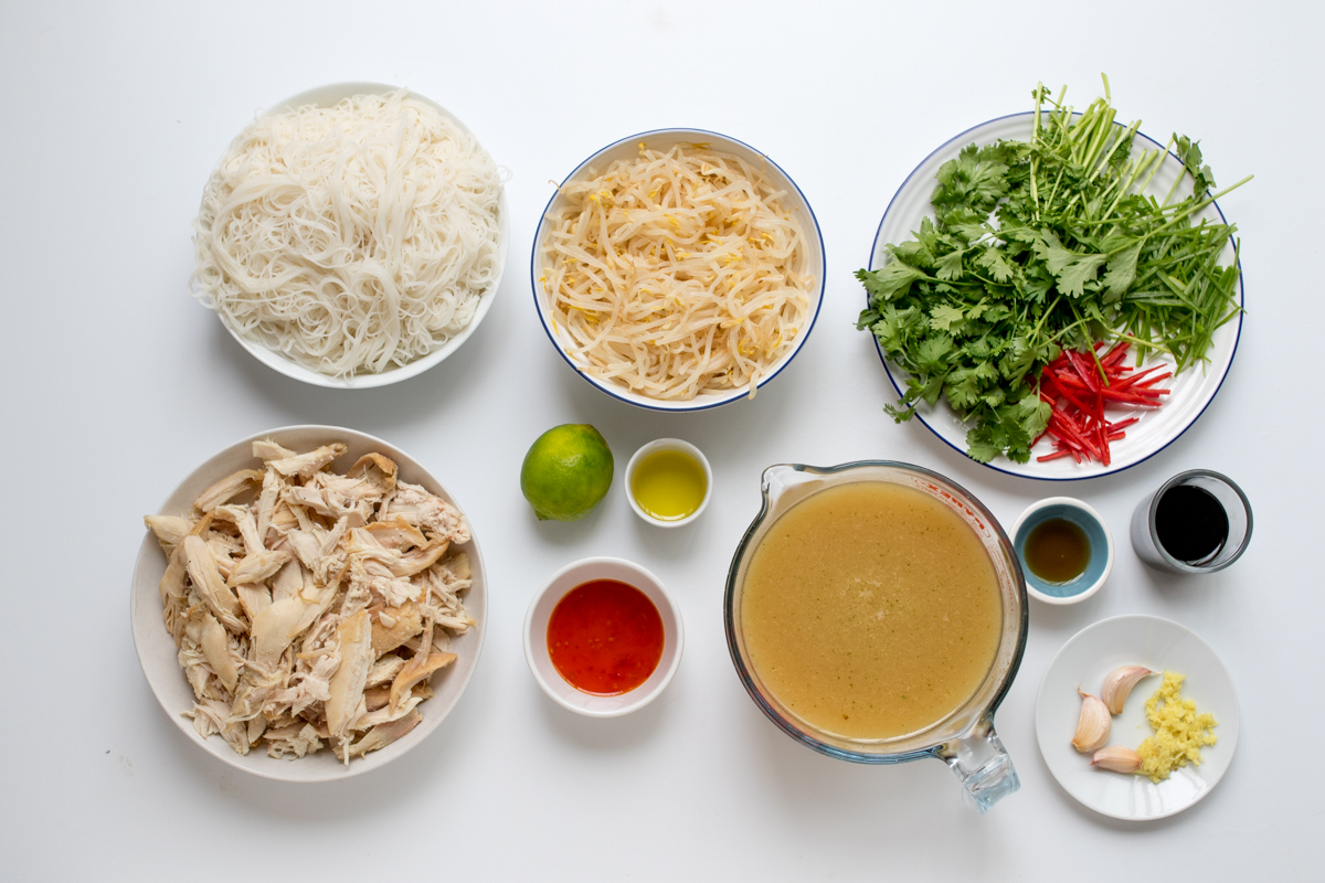 Chicken pho ingredients