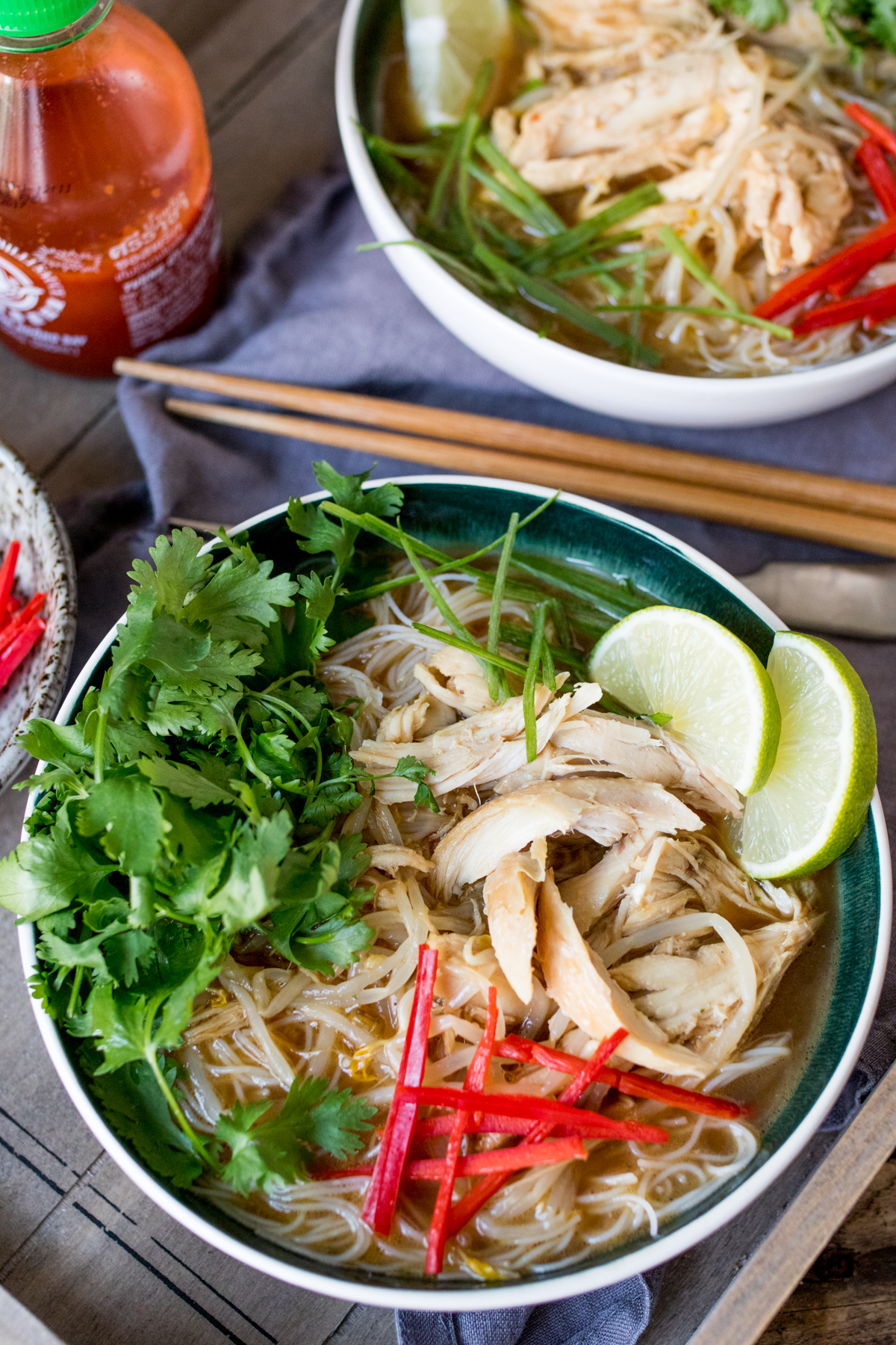 Chicken Pho is bowl food at it's best. Comforting, tasty, nourishing and simple to prepare.