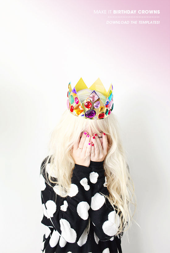 Chunky rhinestone birthday crown