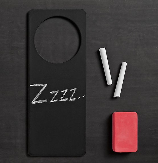 Customizable %22do not disturb%22 sign