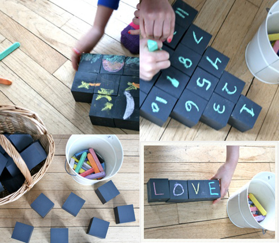 Customizable chalk toy blocks