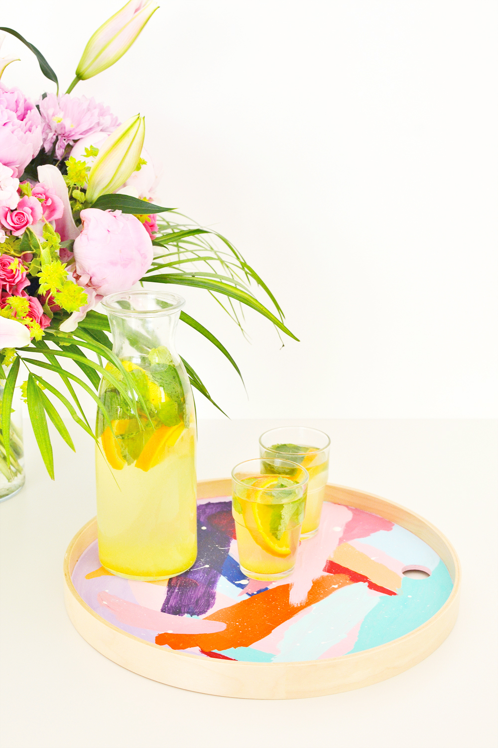 Diy abstract brushstroke tray 2