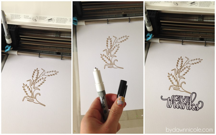 Diy art print silhouette pen holder tutorial 5