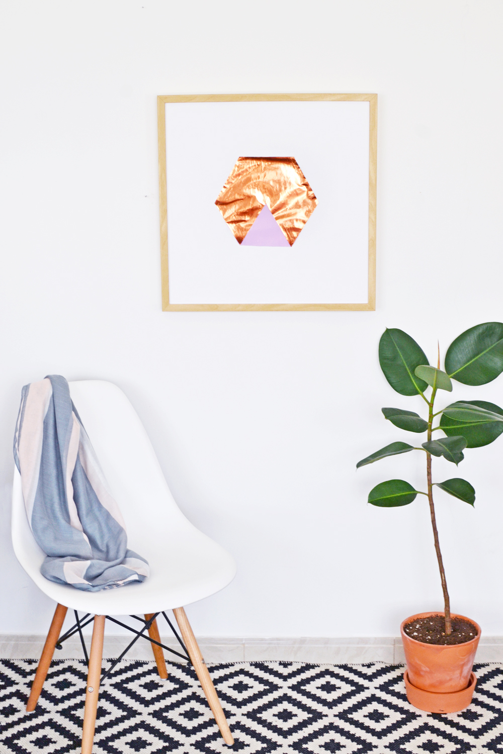 Diy copper hexagon art 1