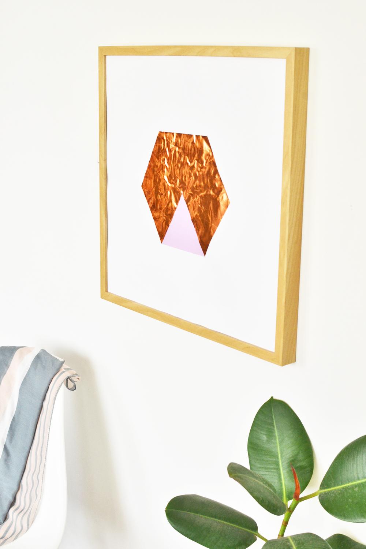 Diy hexagon copper art 2