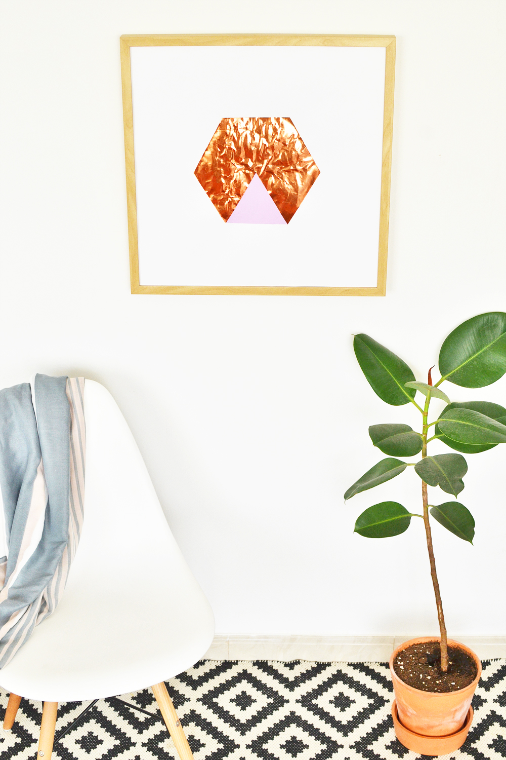 Diy hexagon copper art 6