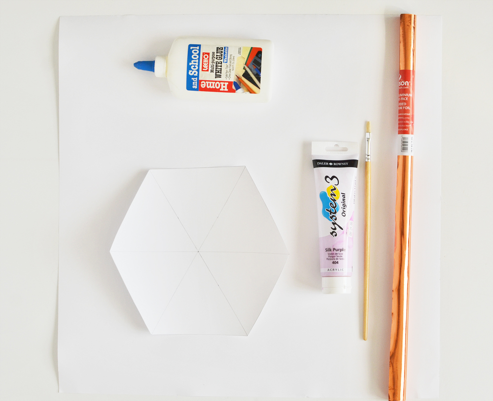 Diy hexagon copper art materials