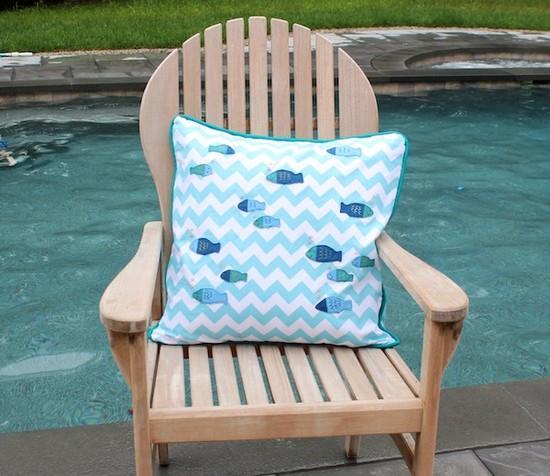 Diy fish print pillow