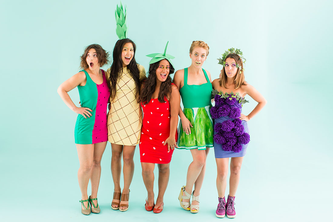 From bananas to tacos these 50 food costumes are easy to diy diy fruit salad costumes solutioingenieria