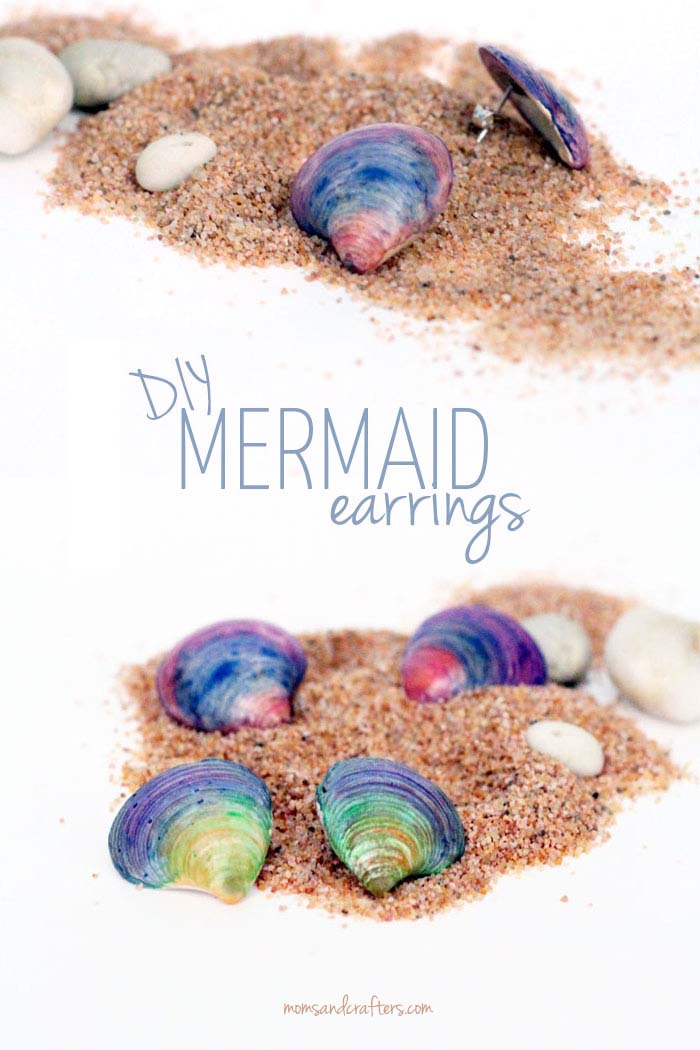 Diy mermaid earrings
