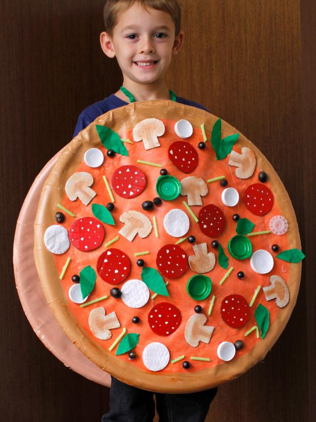 Diy pizza pie costume