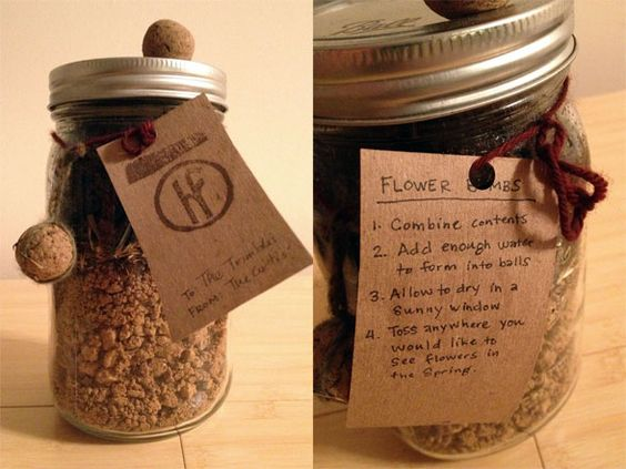 Diy seed bomb making kit in a jar