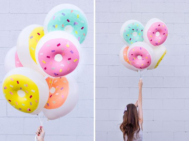 Diy sprinkled donut balloons