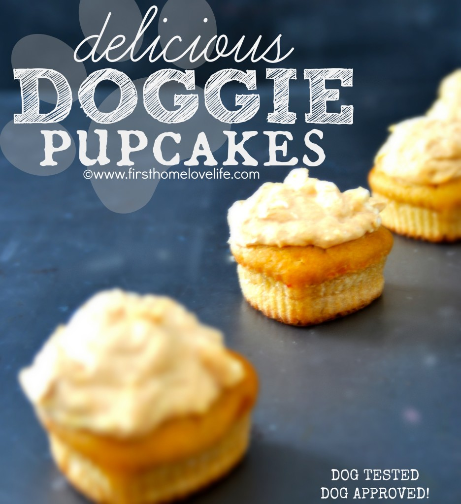 "Delicious doggie ""pupcakes"""