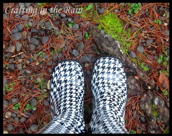 Duct tape covered rain boots