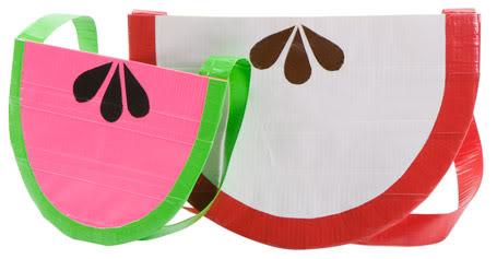 Duct tape fruit slice purse