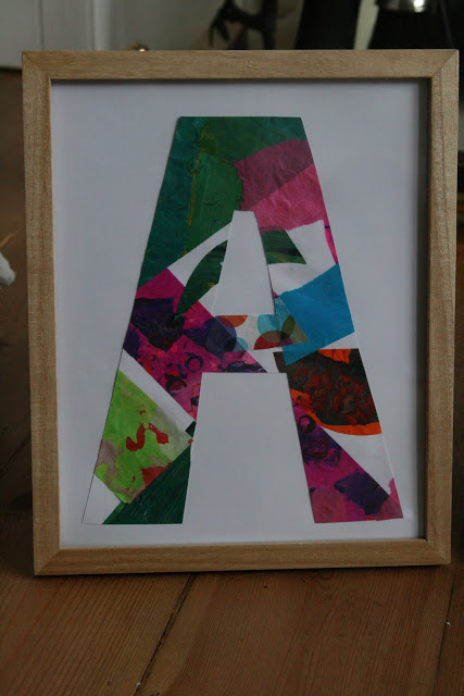 Eric carle style framed initials