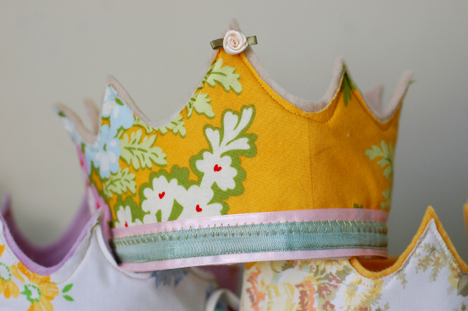 Fabric and ribbon crowns